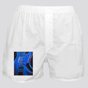 Electric Blue Bass Art Boxer Shorts
