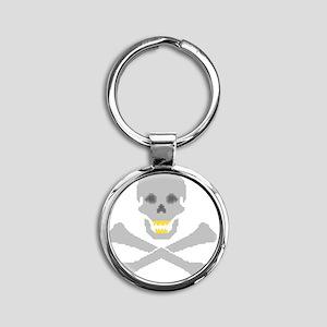Jolly-Roger Round Keychain