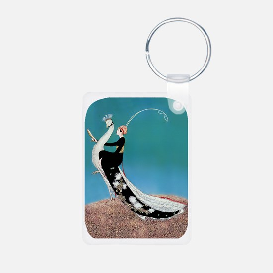 PwrBnk-Art Deco Plank Lady Keychains