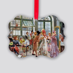 PwrBnk Victorian Shopping Scene Picture Ornament