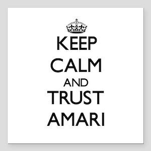 "Keep Calm and TRUST Amari Square Car Magnet 3"" x 3"