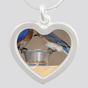 January Silver Heart Necklace