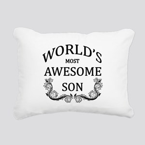 World's Most Awesome Son Rectangular Canvas Pillow