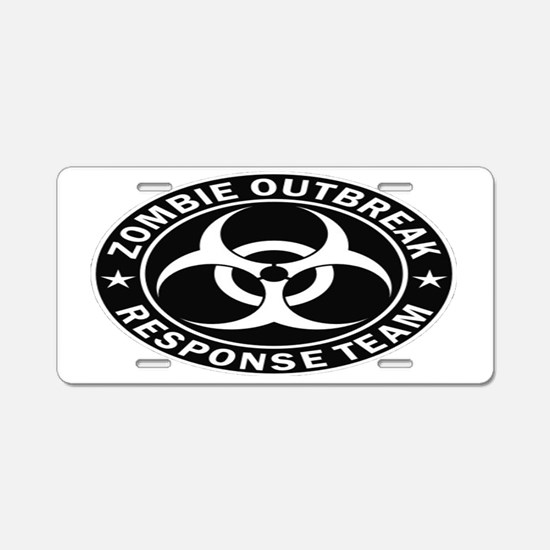 Zombie Response Team Oval T Aluminum License Plate