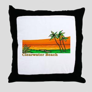 Clearwater Beach, Florida Throw Pillow