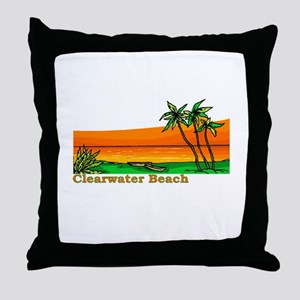 Clearwater Beach, Florida Throw Pillow