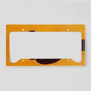Acoustic Guitar License Plate Holder
