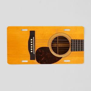 Acoustic Guitar Aluminum License Plate