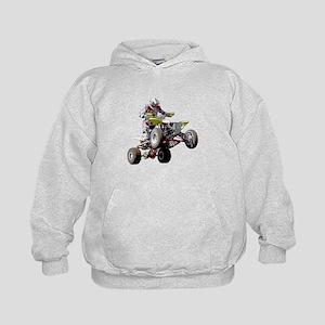 ATV Racing (color) Kids Hoodie