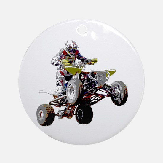 ATV Racing (color) Ornament (Round)