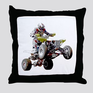 ATV Racing (color) Throw Pillow