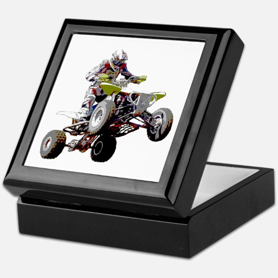 ATV Racing (color) Keepsake Box