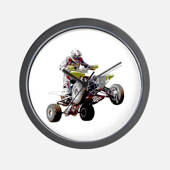 ATV Racing (color) Wall Clock
