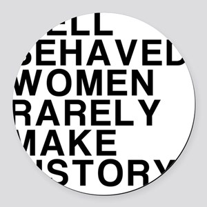 Women, Make History Round Car Magnet