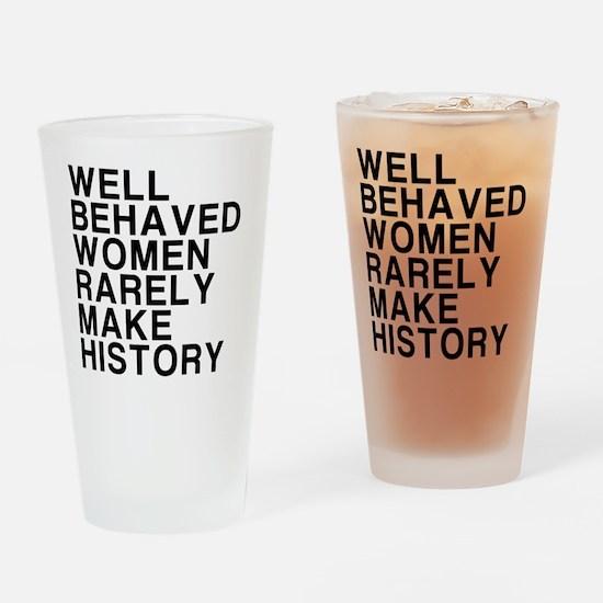 Women, Make History Drinking Glass