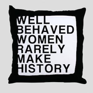 Women, Make History Throw Pillow