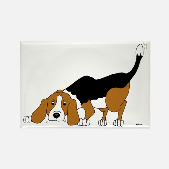 Sniffing Hunting Beagle Rectangle Magnet