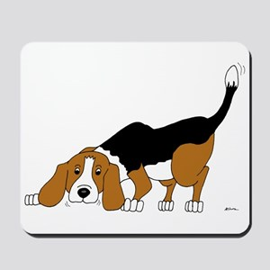 Sniffing Hunting Beagle Mousepad