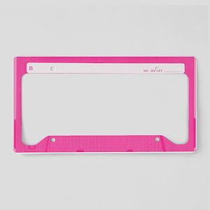 Pink Cassette License Plate Holder