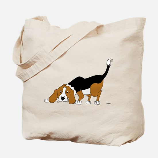 Sniffing Hunting Beagle Tote Bag