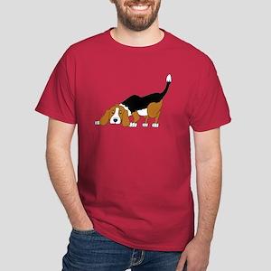Sniffing Hunting Beagle Dark T-Shirt
