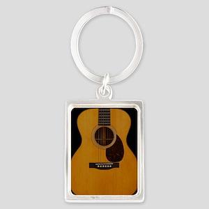 Acoustic Guitar Portrait Keychain