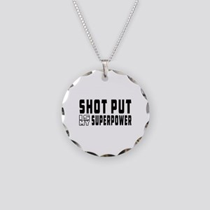Shot Put Is My Superpower Necklace Circle Charm