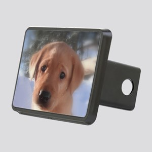Yellow Lab puppy Rectangular Hitch Cover