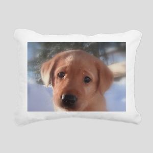 Yellow Lab puppy Rectangular Canvas Pillow