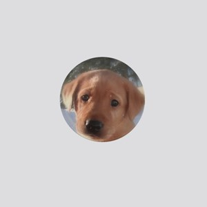 Yellow Lab puppy Mini Button