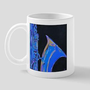 Saxophone Blues Art Mug