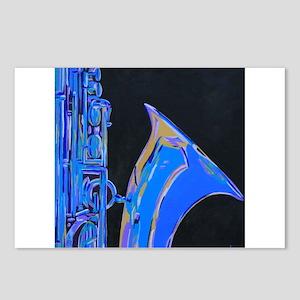 Saxophone Blues Art Postcards (Package of 8)