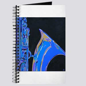 Saxophone Blues Art Journal