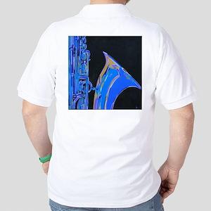 Saxophone Blues Art Golf Shirt
