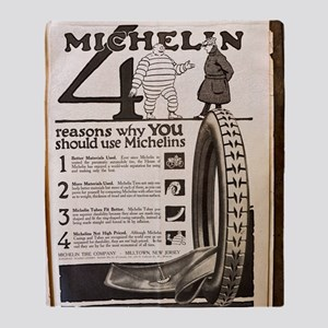 Colliers Michelin Ad 1918 Throw Blanket