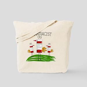 PHARMACIST BIRD NO BACKGROUND Tote Bag