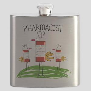 PHARMACIST BIRD NO BACKGROUND Flask