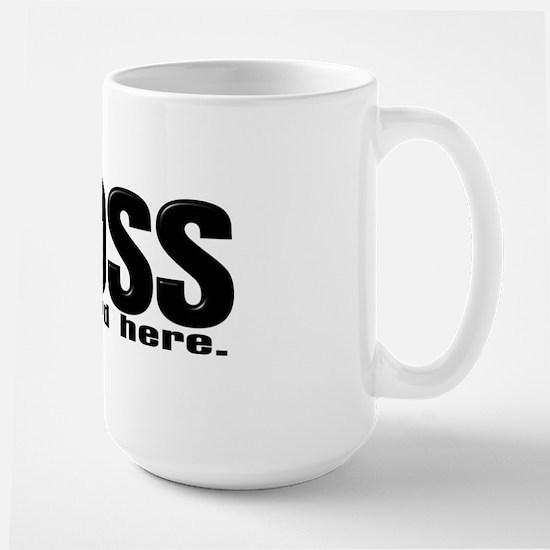Im the Boss Large Mug