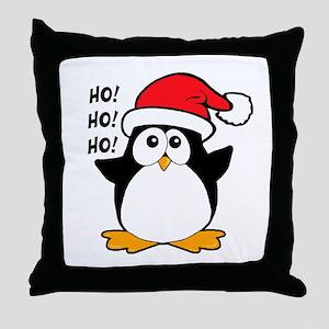 Cute Christmas Penguin Throw Pillow