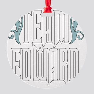 Team Edward Round Ornament