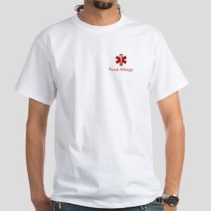 Medical Alert: Food Allergy White T-Shirt