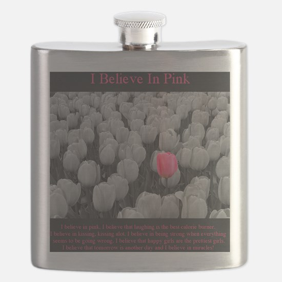 I Believe In Pink Flask