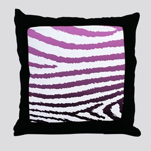 Fashion Pink Jagged Zebra Print Throw Pillow