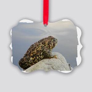 Pondering Toad Picture Ornament