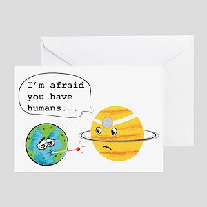 Humans... Greeting Card