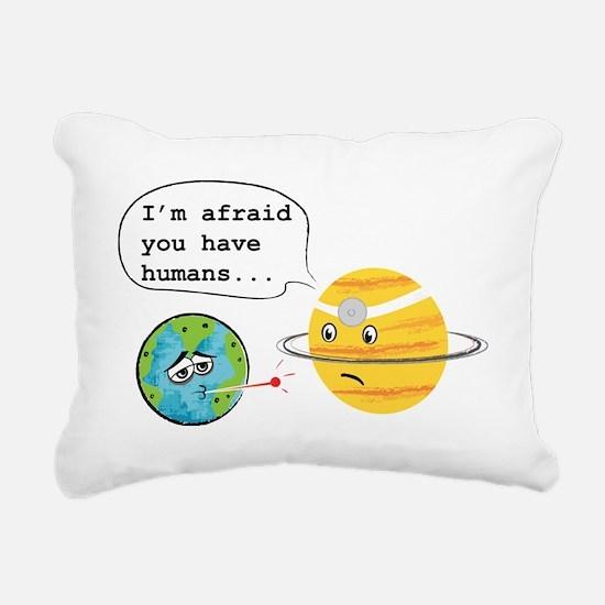 Humans... Rectangular Canvas Pillow