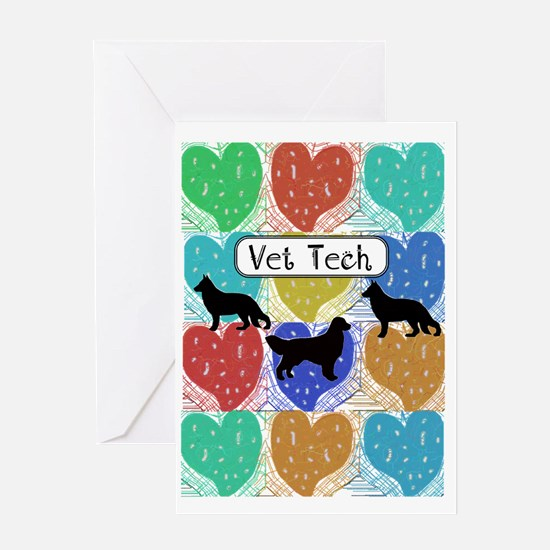 vet tech 2 hearts Greeting Card
