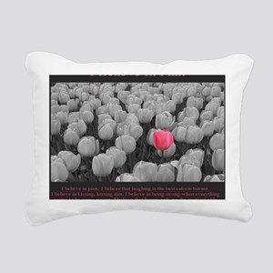 I Believe In Pink Rectangular Canvas Pillow