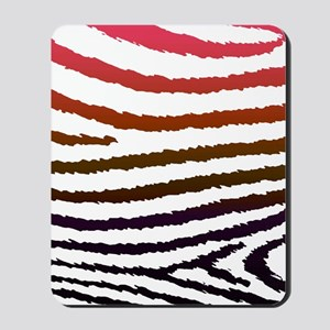Artistic Jagged Zebra Print Mousepad