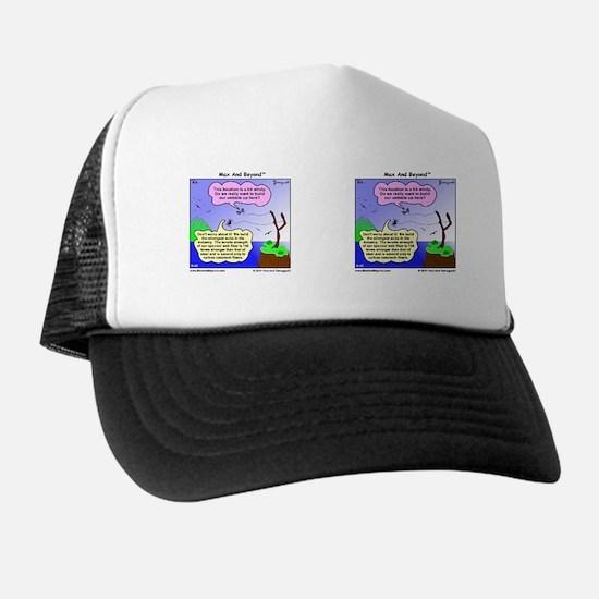Windy Spider Website Cartoon Trucker Hat